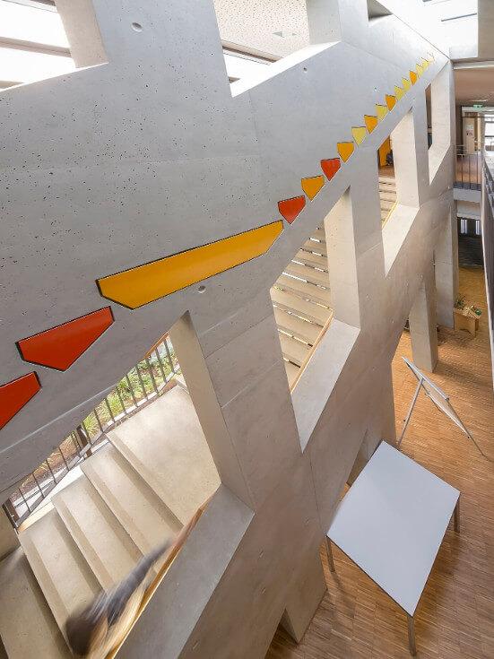 Treppenaufgang im Neubau