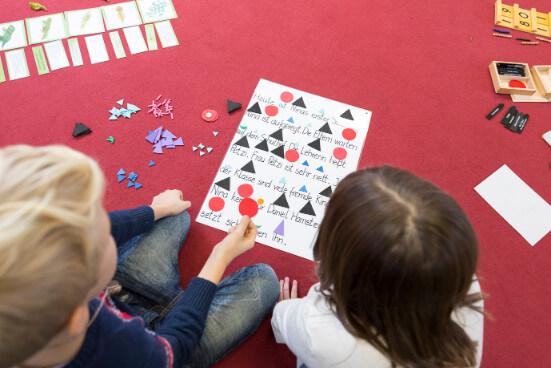 Schüler bestimmen Wortarten