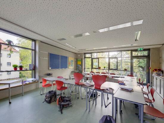 Klassenraum im Neubau